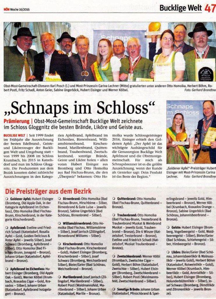 Schnaps im Schloss 2016