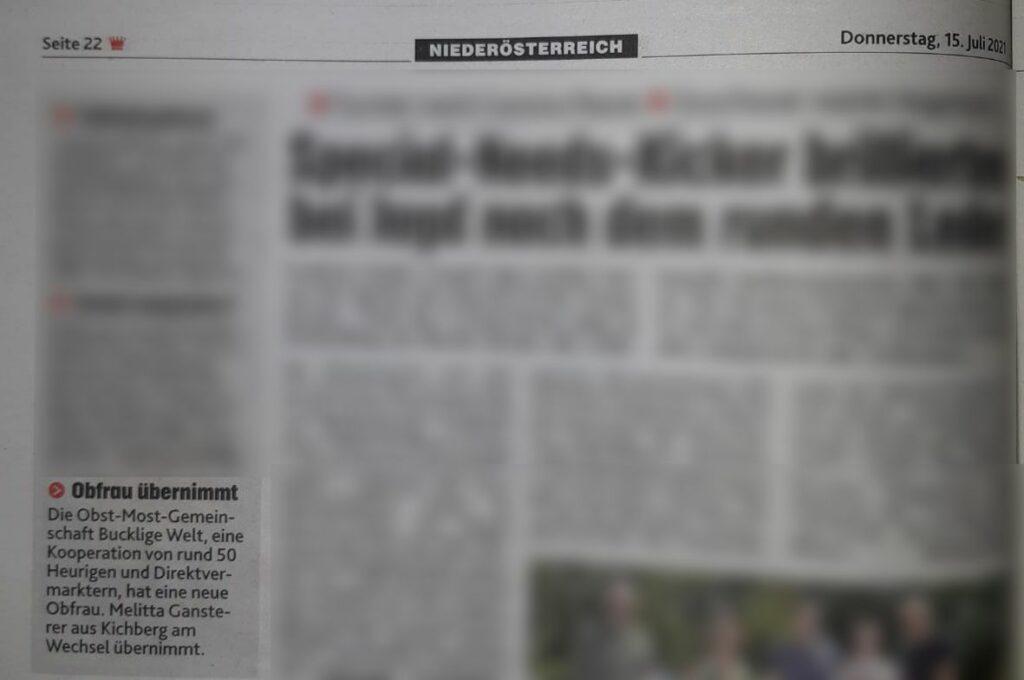 Melitta Gansterer aus Kirchberg am Wechsel übernimmt